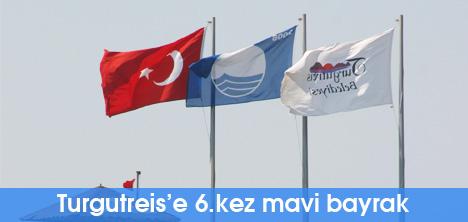 Turgutreis'e 6.kez mavi bayrak