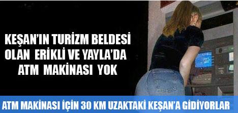 SAROS ERİKLİ'DE BANKALARA AİT ORTAK NOKTA ATM'Sİ YOK