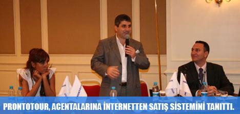 PRONTOTOUR, ACENTALARINA İNTERNETTEN SATIŞ SİSTEMİNİ TANITTI