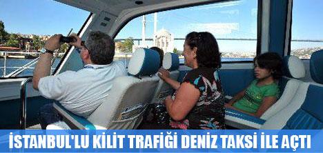 İSTANBUL'LULAR DENİZ TAKSİ'Yİ ÇOK SEVDİ
