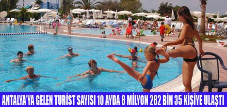 Antalyaya en çok Rus turist geldi