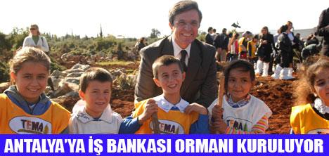 İŞBANKASI'NIN  81 İLDE 81 ORMAN PROJESİ