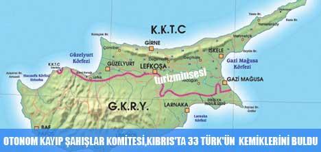 OTONOM KAYIP ŞAHIŞLAR KOMİTESİ,KIBRIS'TA 33 TÜRK'ÜN  KEMİKLERİNİ BULDU