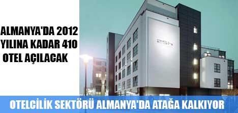 ALMANYA'DA 2012 YILINA KADAR 410 OTEL AÇILACAK