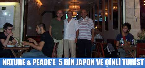 NATURE & PEACE'E 5 BİN JAPON VE ÇİNLİ TURİST