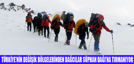SÜPHANDAĞI'NA TIRMANIŞ BAŞLADI