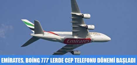 EMİRATES,BOİNG 777'LERDE CEP TELEFONU SERBEST
