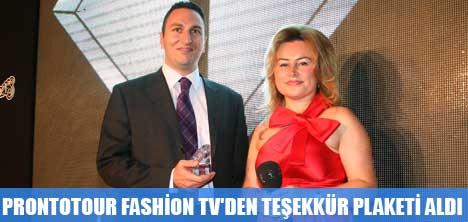PRONTOTOUR FASHİON TV'DEN TEŞEKKÜR PLAKETİ ALDI