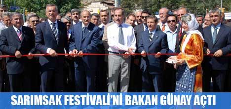 SARIMSAK FESTİVALİ'Nİ BAKAN GÜNAY AÇTI