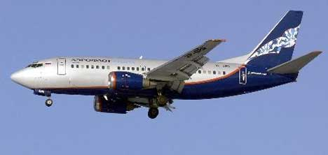 MOSKOVA -PREM SEFERİNİ YAPAN BOİNG 737-500   TİPİ UÇAK YERE ÇAKILDI