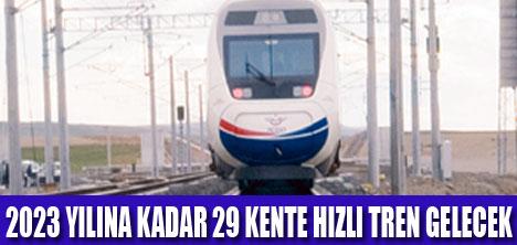 EDİRNE'DEN KARS'A HIZLI TREN HATTI