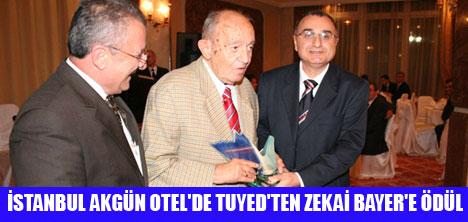 """TUYED'TEN ZEKAİ BAYER'E """"TURİZME HİZMET ÖDÜLÜ"""""""