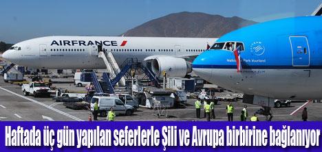 KLM'NİN SANTİAGO UÇUŞLARI BAŞLADI