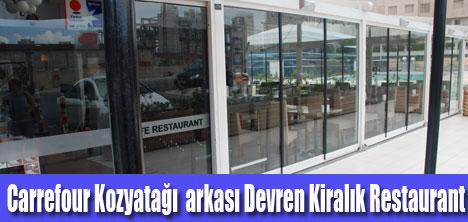 Ataşehir'de Devren Kiralık Restaurant