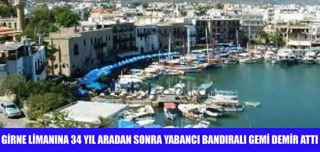 BAHAMA BANDIRALI GEMİ GİRNE LİMANINDA