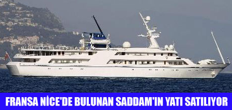 SADDAM'IN YATI SATILIYOR