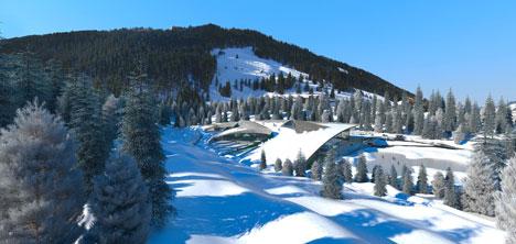 Fransız Alplerinde mükemmeliyete açık çek