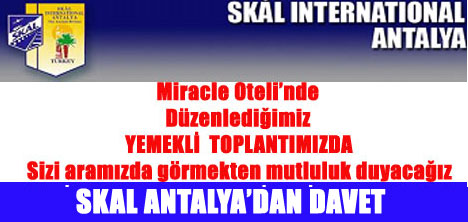 SKAL ANTALYA'DAN BASIN DAVETİ