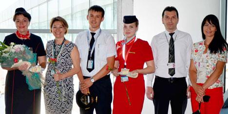 Moskova'dan Bodrum'a 200 turist geldi