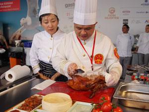 Gastronomist 2017'nin son gününe Çin ekibinin renkli gösterisi damgasını vurdu