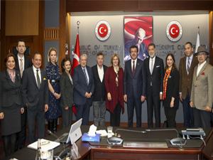 TTYD Yönetimi, Kültür ve Turizm Bakanı Prof. Dr. Numan Kurtulmuş ve Ekonomi Bakanı Nihat Zeybekçi'yi ziyaret etti