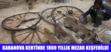 1800 YILLIK SAVAŞ ARABASI BULUNDU