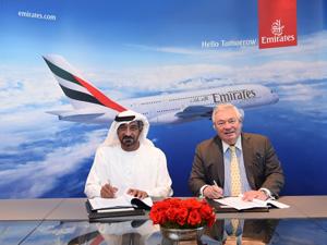 Emirates Havayolu, 36 adet Airbus A380 tipi uçak siparişi verdiğini açıkladı