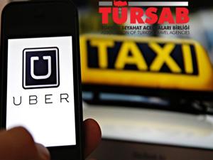 TÜRSAB, Taksici-UBER geriliminin çözümü hukuk içinde aranması gerektiğini savundu