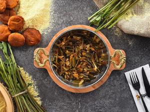 Nelipide Gurme, 'yöresel ot menüsü'nde yer alan Galdirik ile köy lezzetine hasret herkesin gönlünde taht kuruyor