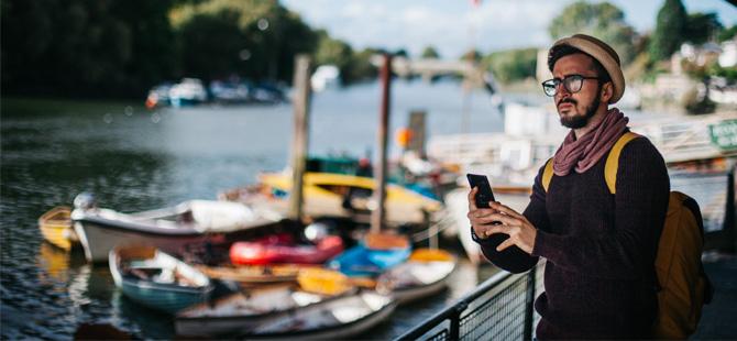 Seyahatlerini akıllı telefonları üzerinden yapanların oranı 2017 yılında % 70 arttı