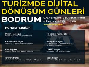 """Bodrum'da """"Turizmde Dijital Dönüşüm"""" konulu eğitim seminer verilecek"""