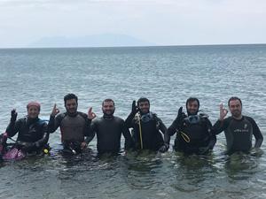 TÜSAT(Trakya Üniversitesi Su Altı Topluluğu) Enez'de keşif ve araştırma dalışları yaptı