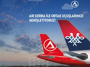 Atlasglobal, Air Serbia ile ortak uçuş anlaşmasının kapsamını genişleterek uçuş yaptığı destinasyonlara üç şehir daha ekledi