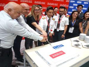 Air Arabia'nın Sharjah'tan gerçekleştirdiği ilk uçuşu karşıladı