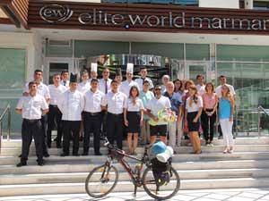 İstanbul'dan Marmaris'e turizme destek için pedal çevirdi