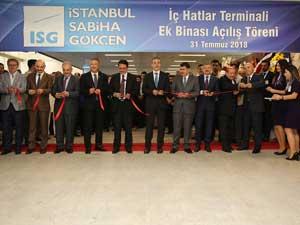 İstanbul Sabiha Gökçen Yeni İç Hatlar Terminal Binası Hizmete Açıldı