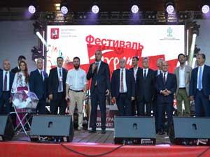 """Moskova'da bu yıl ikincisi organize edilen """"Türkiye Festivali"""" muhteşem bir başlangıç yaptı"""
