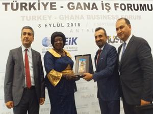Turan Koçyiğit, Türkiye-Gana ticaret hacmini 1 milyara çıkarmak istediklerini söyledi