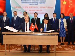 Türkiye –Çin Turizm Tanıtım çalışmaları atılan imzalarla hızlanacağı yeni bir döneme girdi