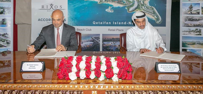 Türkiye'den dünyaya hızla açılan Rixos Hotels, Qetaifan Projects arasında sözleşme imzalandı