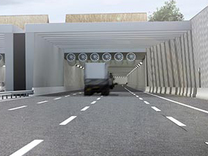 Gotthard Base tüneli ile Zürih ve Milano'yu birbirine bağlayan Rönesans, bu kez de Hollanda, Rotterdam'da yollar inşa ediyor