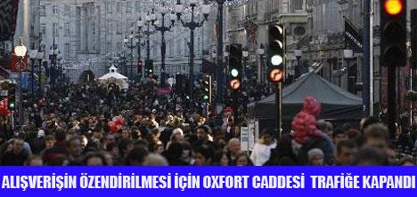OXFORT CADDESİ TRAFİĞE KAPANDI