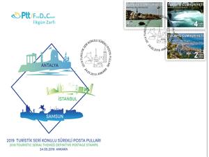 PTT, '' 2019 Turistik Seri ''konulu sürekli posta pullarını satışa sundu