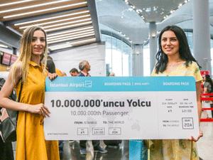 İstanbul Havalimanı, 2 Haziran 2019 itibari ile toplamda 10 milyon yolcuya ev sahipliği yaptı