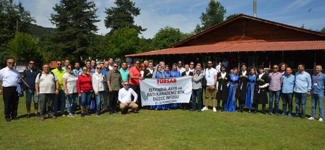 Asya BTK ve Batı Karadeniz BTK Üyeleri Düzce'de seyahat acentası temsilcilerini bir araya getirdi