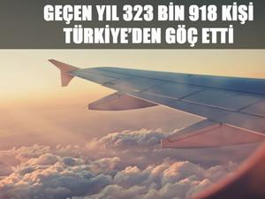 Yurt dışından Türkiye'ye gelenlerin sayısı ise 577 bin 457 olarak belirlendi