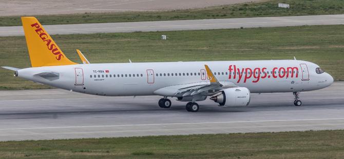 Pegasus Hava Yolları'nın 100 uçaklık Airbus siparişinin 239 koltuğa sahip ilk A321 Neo tipi uçağı filoya katıldı