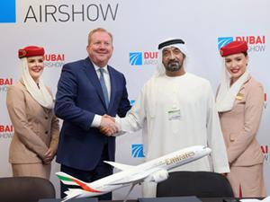 Emirates, Dubai Airshow'da, 16 milyar dolar değerinde 50 adet A350 XWB siparişi verdiğini duyurdu