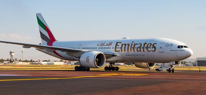 Emirates'in Meksika'ya ilk yolcu uçuşunu Emirates Boeing 777-200LR ile yaptı
