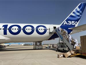 Airbus, Fransa, Almanya, İspanya ve İngiltere hükümetlerine bağışlanmak üzere Çin'den milyonlarca yüz maskesi satın alarak dağıtımına devam ediyor